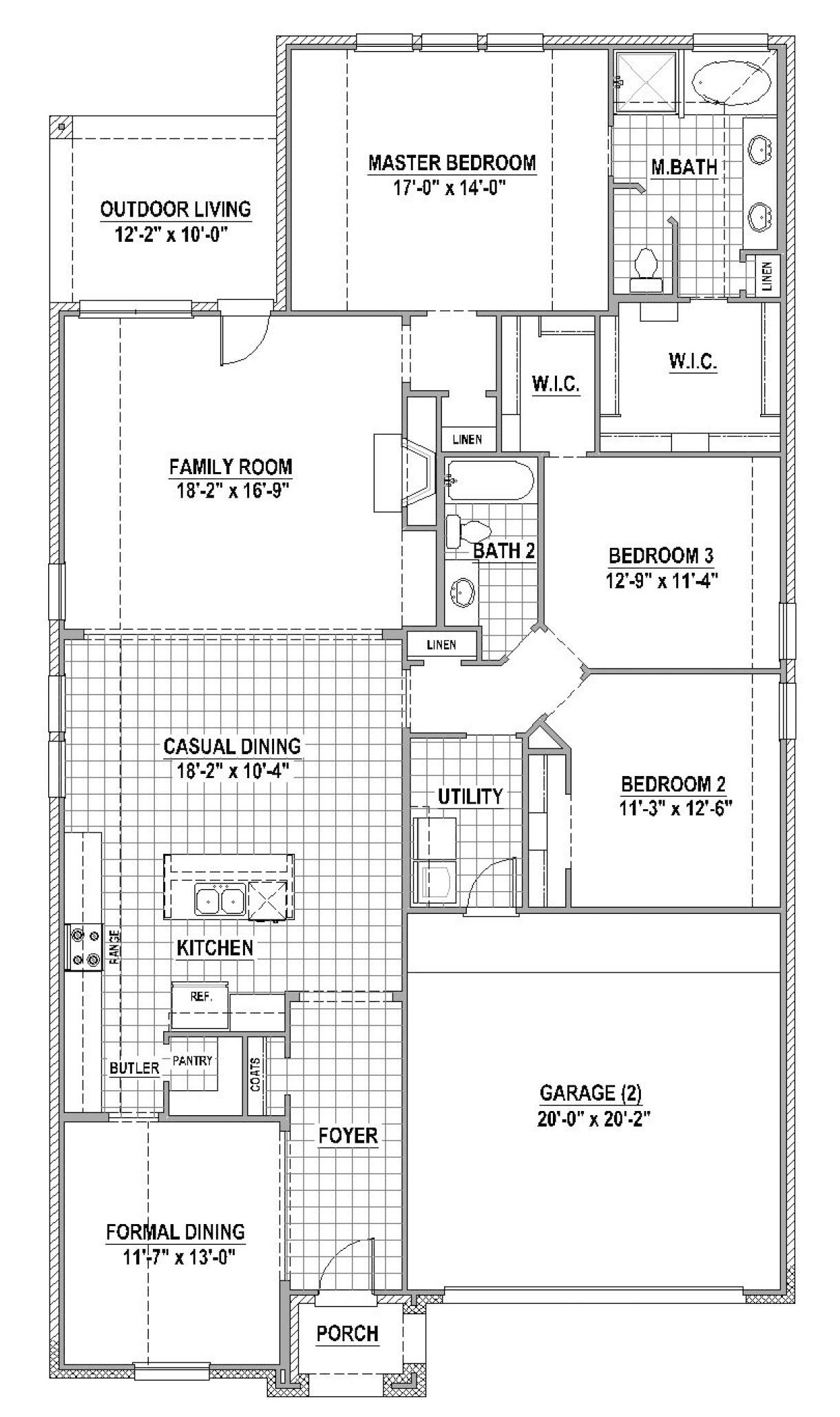 American Legend Homes - Plan 1151 - Light Farms - Celina