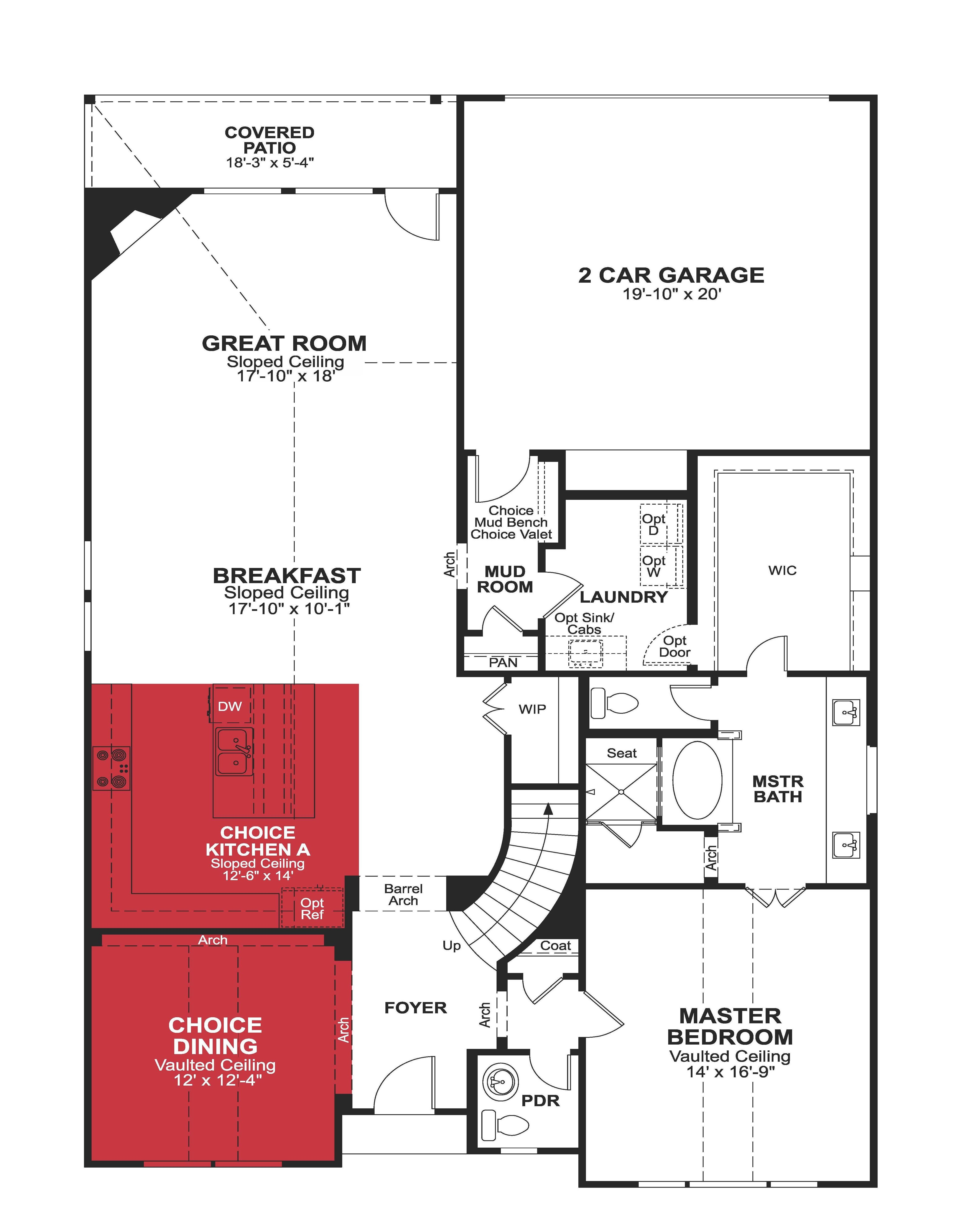 beazer brighton floorplan_page_1 - Lake Ridge Beazer Homes Floor Plans